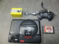 SEGA Genesis 1 Black Home Console with controller and cables
