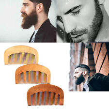 Beauty Makeup Mustaches Brush Peach Wood Beard Hair Comb Fine Coarse Teeth