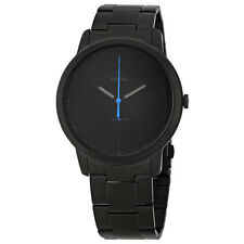 Fossil The Minimalist Black Satin Dial Mens Watch FS5308
