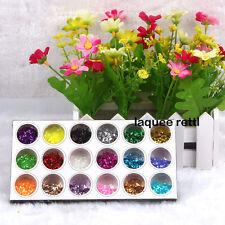 New Nail Art 18 Colors Small Hexagon Glitter Deco Kit Acrylic UV Tips Decoration