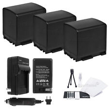 3x BP-819 Battery + Charger for Canon Vixia M32 M300 XA10