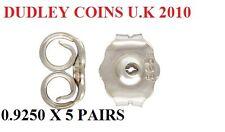 U.K SELLER 1ST CLASS P&P 10 (5 pairs) 925 SILVER BUTTERFLY EARRING BACKS