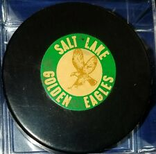 Salt Lake Golden Eagles Converse Art Ross Hockey Puck made in the USA WHL SCARCE