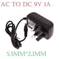 AC/DC 9V 1A/1000mA 2.1mm Power Supply for CCTV Camera/ LED STRIP LIGHT UK PLUG