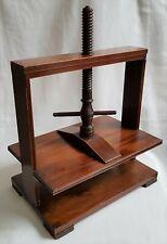 More details for antique wooden press book flower or linen press satinwood line inlay decoration