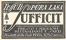 W9939 SUFFICIT tessuti in pura lana - Biella - Pubblicità del 1931 - Old advert