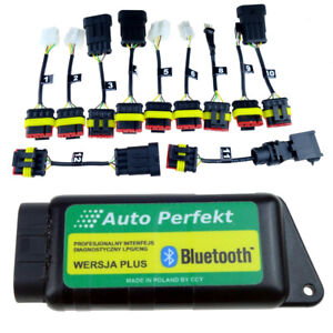 UNIWERSAL interface BLUETOOTH AC STAG KME TECH + adapters autogas diagnostic LPG