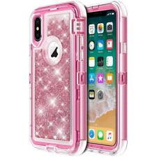 For Apple iPhone X XS MAX Bling Liquid Glitter Holster Case (fits Otterbox Clip)