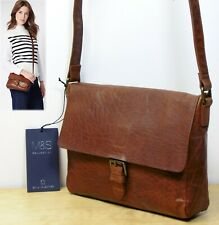 M&S Real LEATHER Small SATCHEL Cross Body SHOULDER BAG in TAN