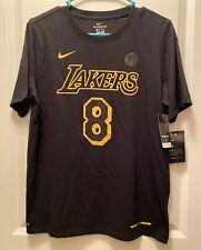 Kobe Bryant Nike Dri-Fit Retirement 8 & 24 Lakers Shirt Black Youth XL NEW HTF