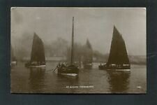 More details for fraserburgh aberdeen - full sail fishing boats at anchor in harbour rp c1910