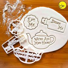 TeacupAlice/'s Adventures in Wonderland Cookie Cutters Set Teapot Teabag