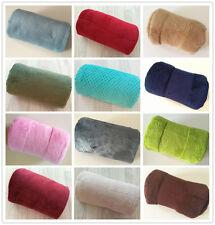 100*70cm Baby Plain Soft Fleece Blanket Shawl Pram Crib Moses Basket Buggy Wrap