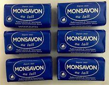 Monsavon au lait Mild & Hydrating Soap Bars from FRANCE 100g (6 Bars)