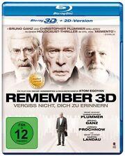 Remember 3D [2015] (Blu-ray 3D +2D)~~~~Christopher Plummer~~~~NEW & SEALED