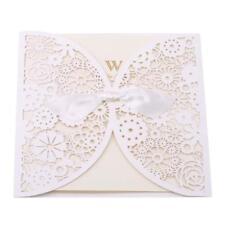 25Pcs/Set Lace Hollow Laser Cut Wedding Invitations Pocket Card Envelope DD