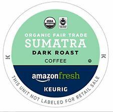 AmazonFresh 80 Ct. Organic Fair Trade K-Cups, Sumatra Dark Roast, Keurig K-Cup