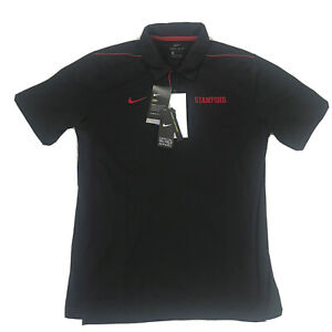 Nike Dri-Fit On Field Stanford Men's Large Polo Shirt  UPF 40+ NWT