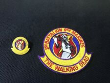 1sr Batallion 9th Marines The Walking Dead Pin And Patch EUC CR2