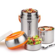 2.5L Space Vacuums Insulated Stainless Steel Thermal Lunch Box Out Door Use AU
