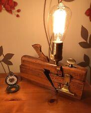 Vintage Upcycled Wood Block Plane Bedside Or Table Light