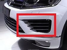 NEW GENUINE VW TOUAREG 15-17 R-LINE FRONT BUMPER N/S LEFT LOWER GRILL 7P6854661D