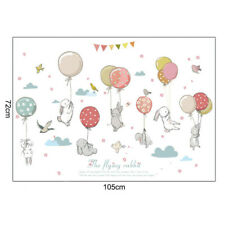 Removable Bunny Balloon Wall Stickers Nursery Kids Bedroom Home Decals Decor CY2