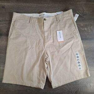 """Old Navy Mens Khaki Ultimate Slim Shorts Size 40 Flex 10"""" Inseam"""