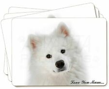 Samoyed Dog 'Love You Mum' Picture Placemats in Gift Box, AD-SO73lymP