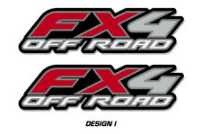 """FX4 Off Road Truck Bed Decal Set For Ford F150 Raptor Stickers 15""""X4"""" RED"""
