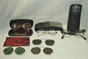 Vintage Assorted Eye Glasses, Frames & Cases