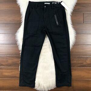 Vince Women's Size 6 Black Crop Military Pants Straight Leg