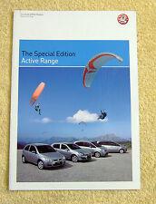 Vauxhall Active SE Range,2006 Models, Corsa C, Astra H, Meriva A, Zafira B