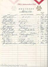 1973 NBA LIVING LEGEND RICK BARRY SIGNED TWA AMBASSADORS CLUB GUEST REGISTER