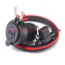 12V Waterproof Motorcycle Cigarette Lighter Power Plug Outlet Socket 16# Cable