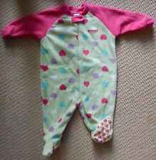 NWT Target Baby Girls Hearts Polar Fleece Winter Romper Coverall Size 0