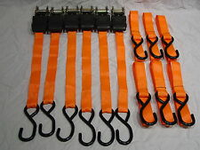 LOT 6 NEW Ratcheting Ratchet Cargo Web Straps Tie Down Truck ATV Boat Motorcycle