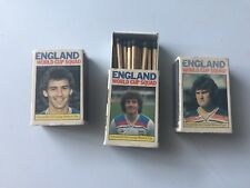 3 x Spain 1982 World Cup matchboxes inc matches, Robson, Keegan and Hoddle