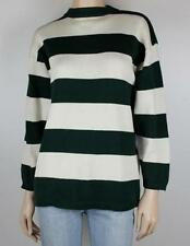 Crewneck 100% Cotton Striped Jumpers & Cardigans for Women