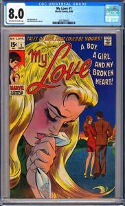 My Love #1 CGC 8.0 Romance cover, John Buscema art, John romita cover & art!L@@K