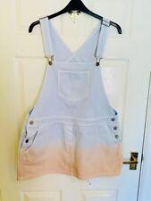 Blue And Pink Asos Dungaree Dress Size 18 (7424)