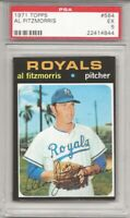 1971 TOPPS #564 AL FITZMORRIS, PSA 5 EX , KANSAS CITY ROYALS  L@@K !