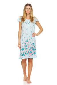 00130 Women Nightgown Sleepwear Pajamas Short Sleeve Sleep Dress Nightshirt