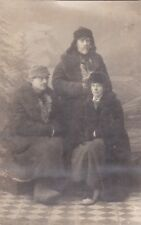 1929 Handsome young men woman winter clothes Russian antique photo gay interest