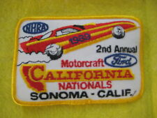 "Vintage NHRA California Nationals Sonoma  1989 Drag  Racing Patch 4 1/2 ""X3"""
