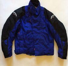 TEKNIC motorcycle jacket blue heavy lined padded size 44