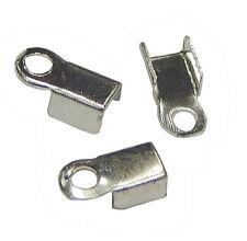 100 Endkappen für Halskette Armbänder Metall Kappen 8mm Schmuck Basteln M21