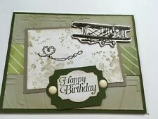 Stampin Up Handmade Greeting Birthday Card Airplane