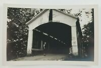 Postcard Real Photo of Covered Bridge Near Rossville Indiana