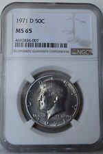 "1971-D Kennedy Half Dollar ""NGC MS65"" *Free S/H After 1st Item*"